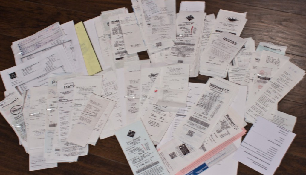 These are ALL of my receipts for 2014.  And I mean ALL.